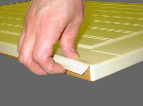 verwijderen plakfolie keukenkastjes laat los