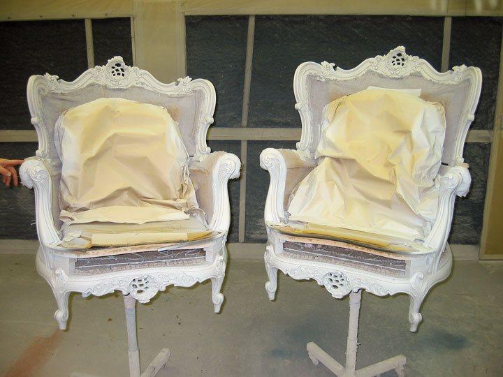 antieke lodewijkstoelen opknappen
