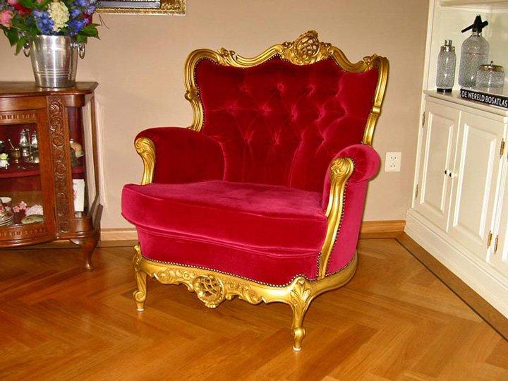 antieke stoelen spuiten