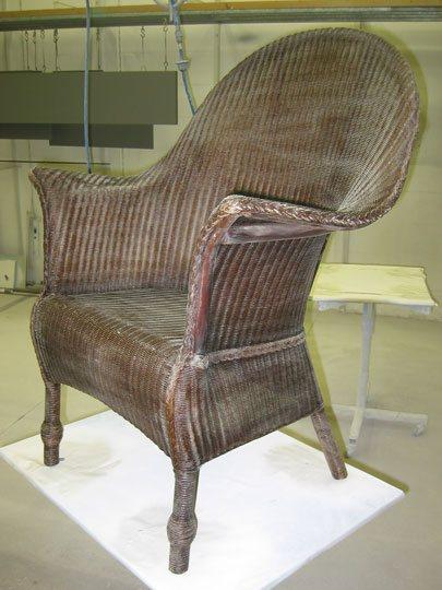 lloyd loom stoel verven