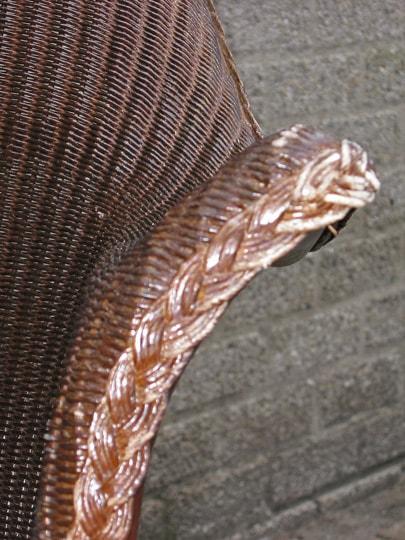 lloyd loom stoel weefsel leuning repareren en opknappen