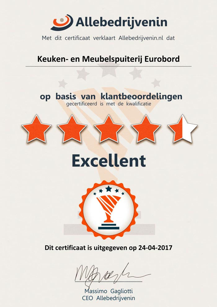 certificaat eurobord keukenspuiterij 2016