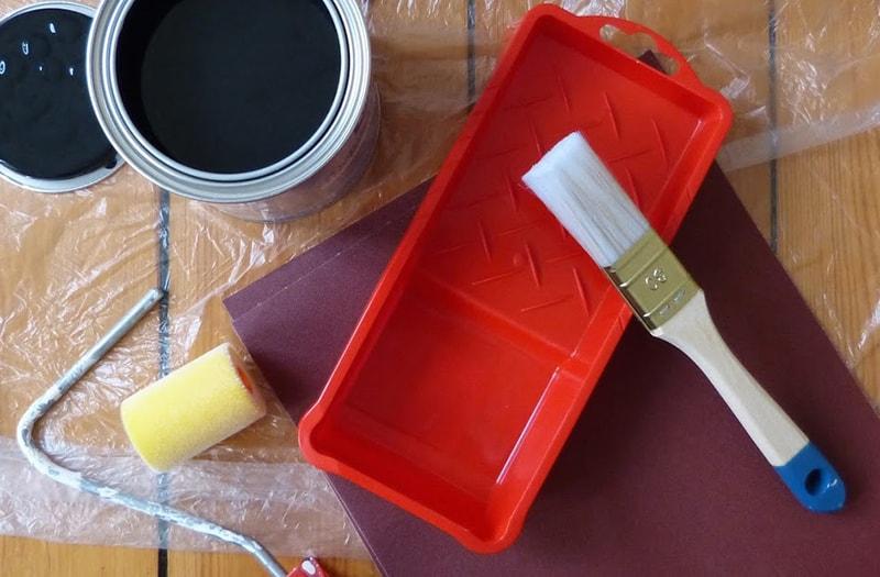 de vaste delen van uw keuken schilderen