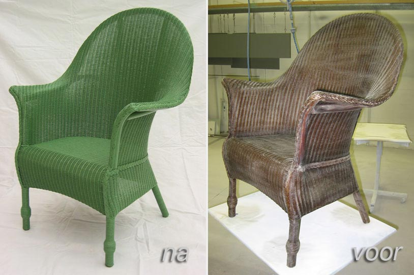Lloyd Loom stoelen verven
