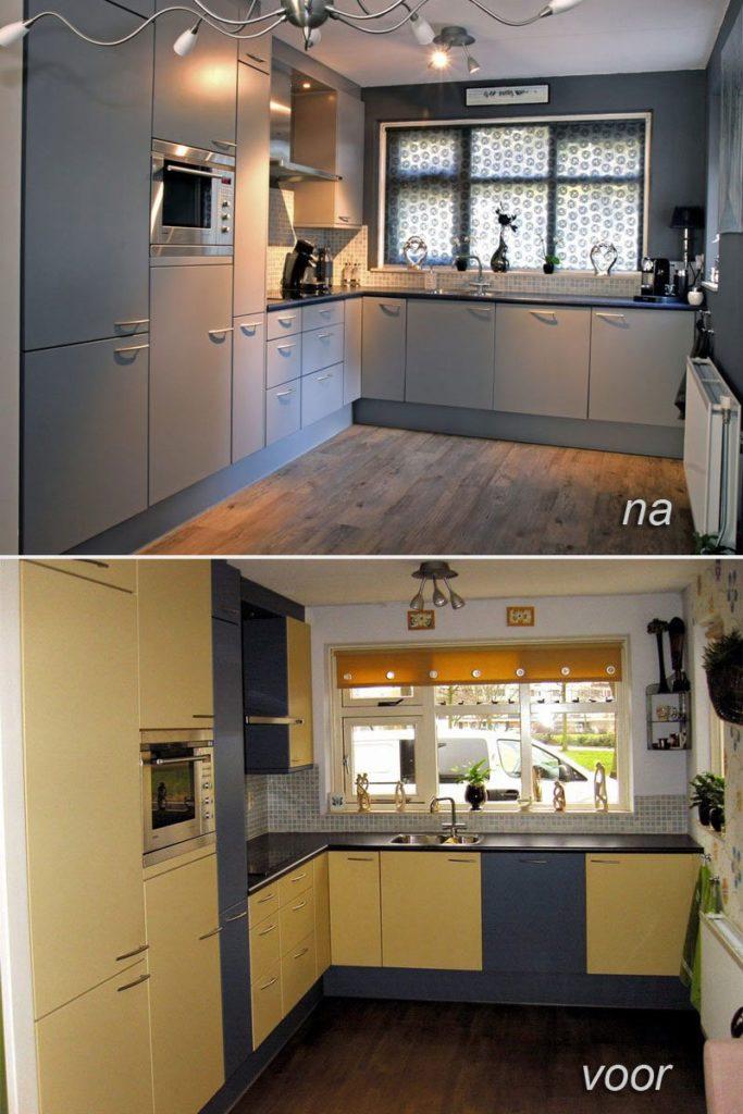 keukenkastjes schilderen zijdeglans