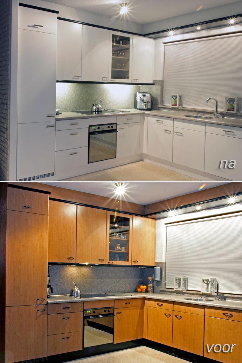 kunststof keukenkastjes verven
