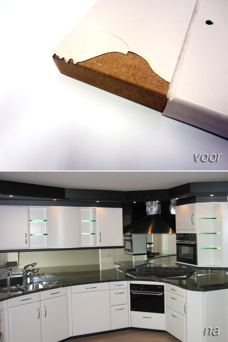 plastic folie keukenkastjes repareren