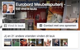 bezoek eurobord meubelspuiterij en keukenspuiterij op facebook